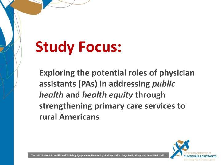 Study Focus: