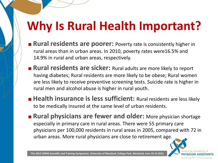 Why Is Rural Health Important?