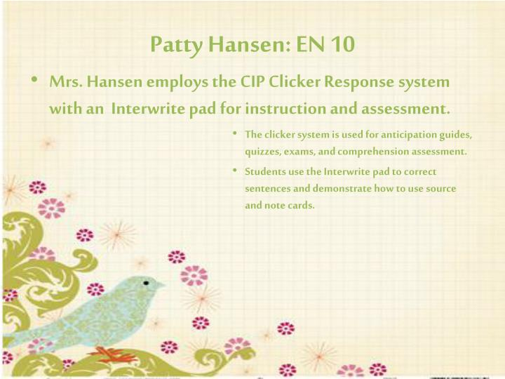 Patty Hansen: EN 10