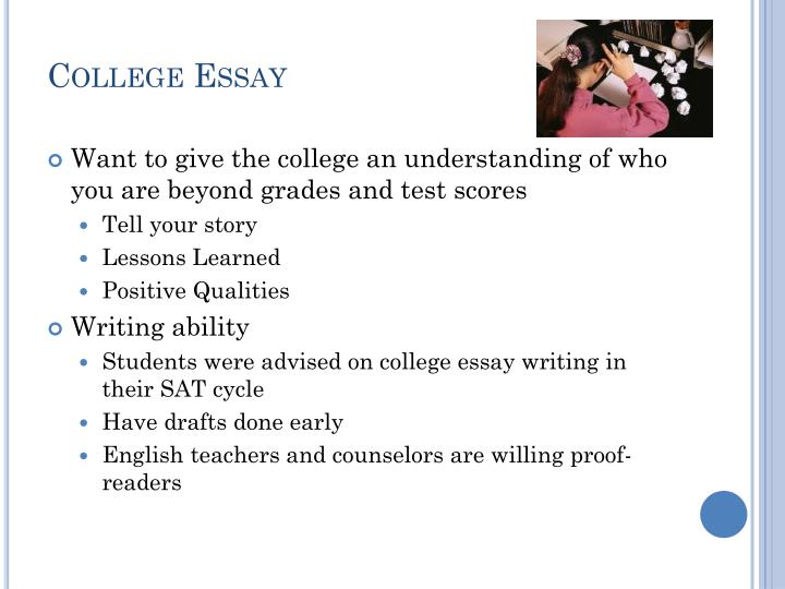 when to write college essay