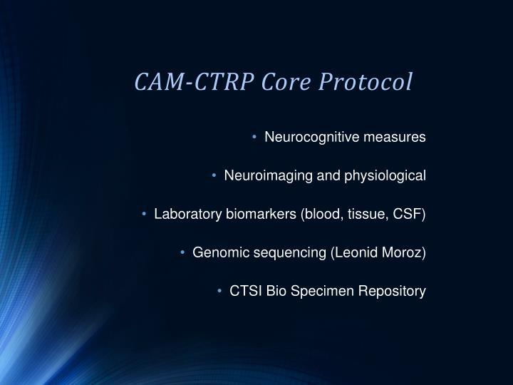 CAM-CTRP Core Protocol