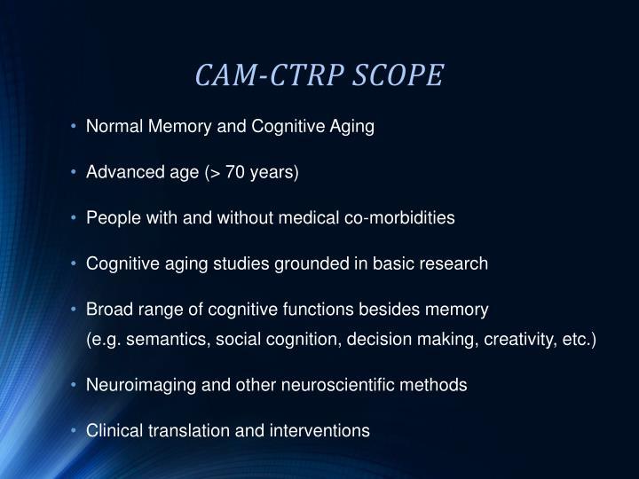 CAM-CTRP SCOPE