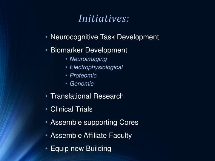 Initiatives: