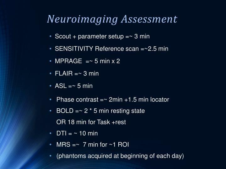 Neuroimaging Assessment