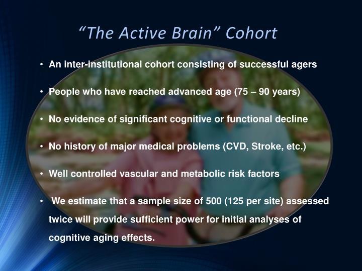"""The Active Brain"" Cohort"