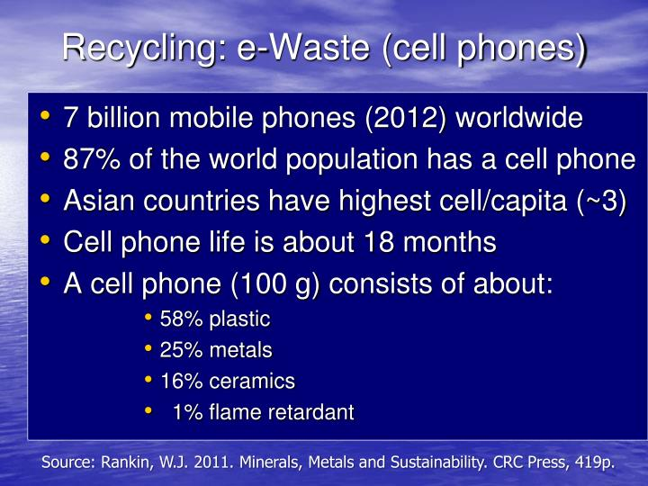 Recycling: e-Waste (cell phones)