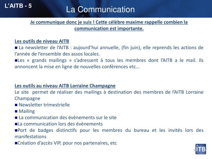 L'AITB - 5
