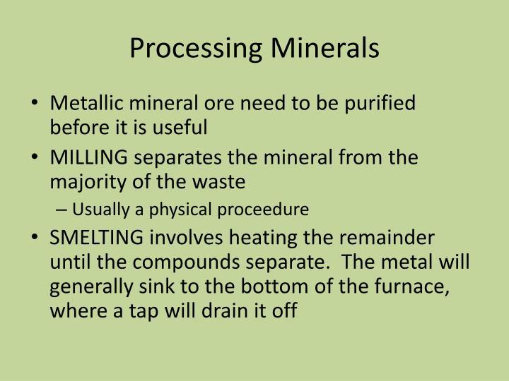 Processing Minerals