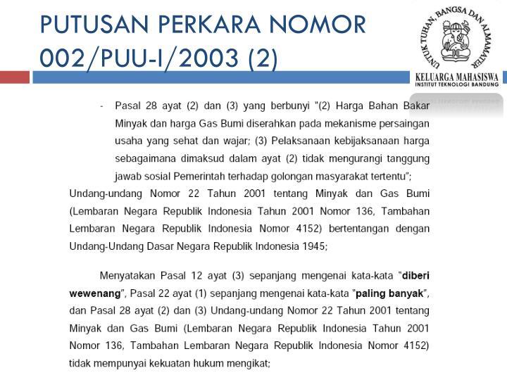 PUTUSAN PERKARA NOMOR 002/PUU-I/2003 (2)