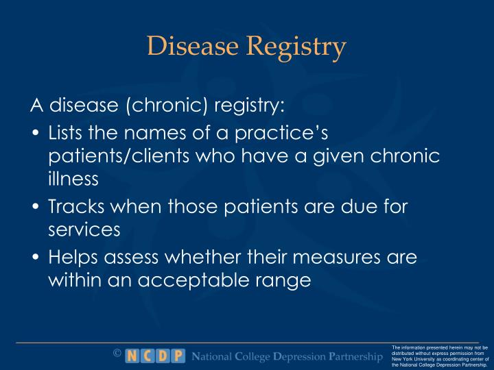 Disease Registry