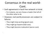 consensus in the real world cont