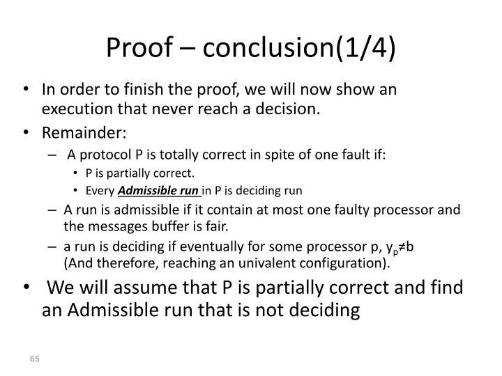 Proof – conclusion(1/4)