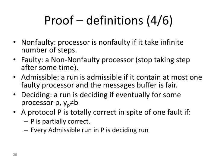 Proof – definitions (4/6)