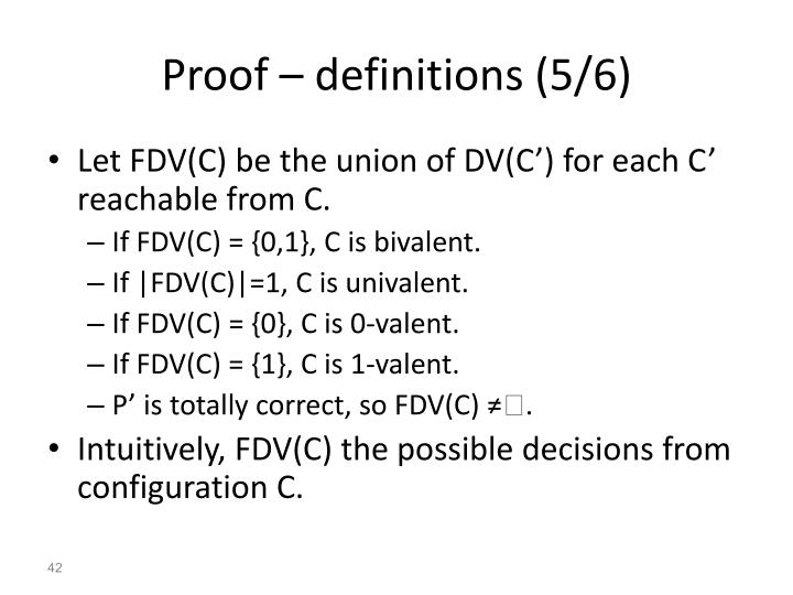 Proof – definitions (5/6)