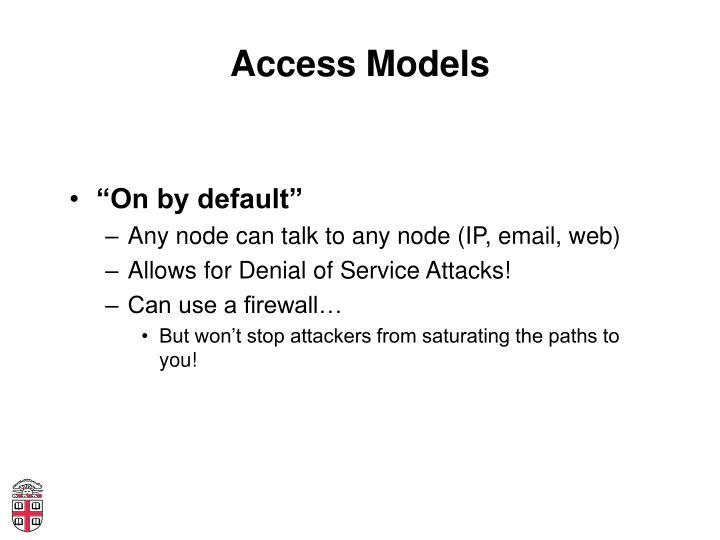 Access Models