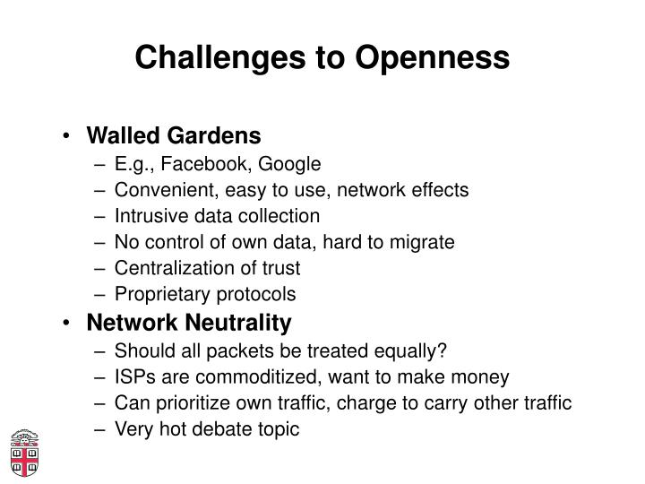 Challenges to Openness