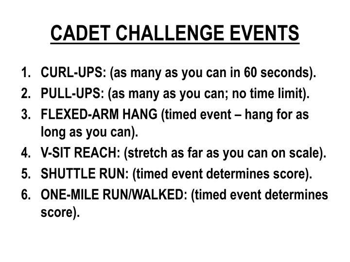 CADET CHALLENGE EVENTS