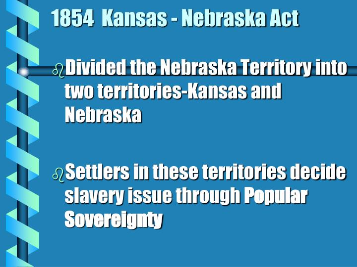 1854  Kansas - Nebraska Act