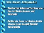 1854 kansas nebraska act