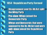 1854 republican party formed