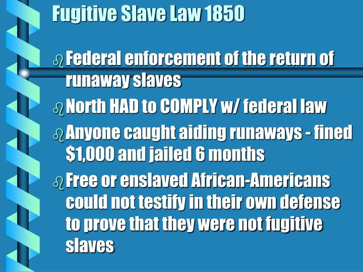 Fugitive Slave Law 1850