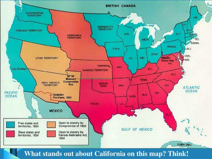 What stands out about California on this map? Think!