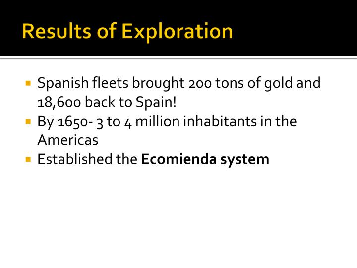 Results of Exploration