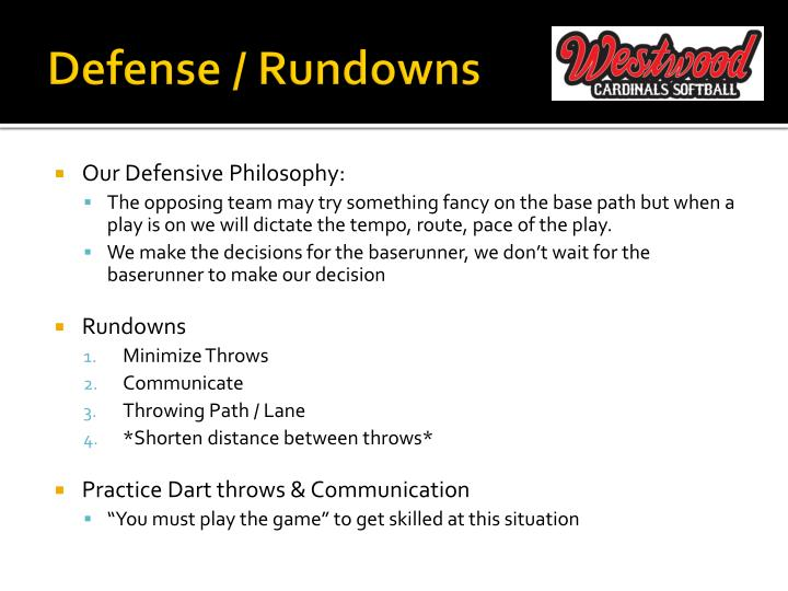Defense / Rundowns