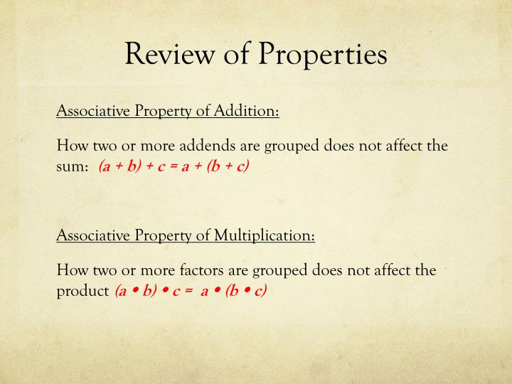 Review of properties1