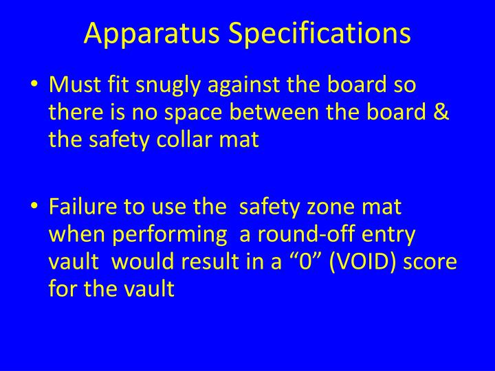 Apparatus Specifications