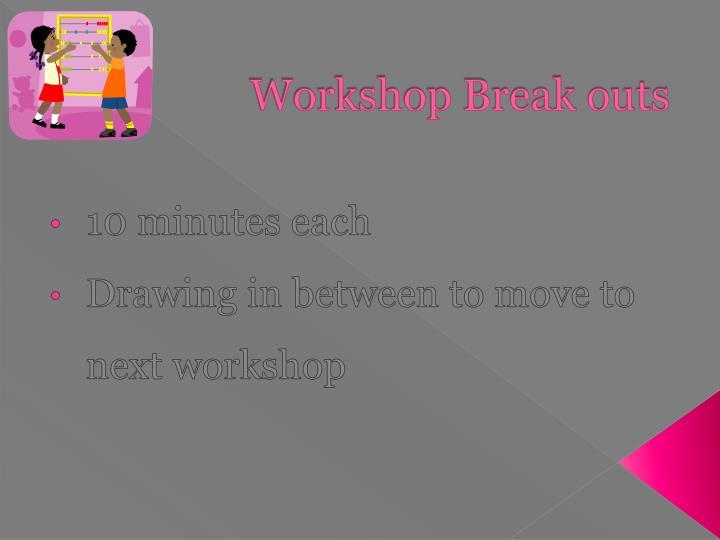 Workshop Break outs