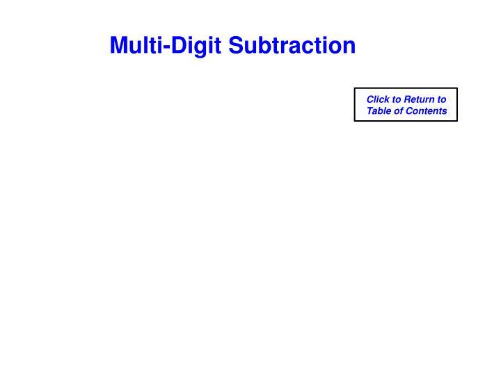 Multi-Digit Subtraction