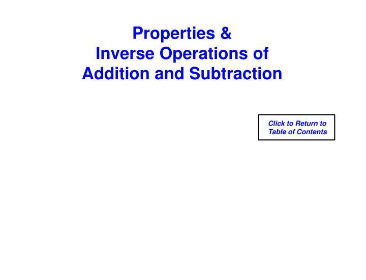 Properties &