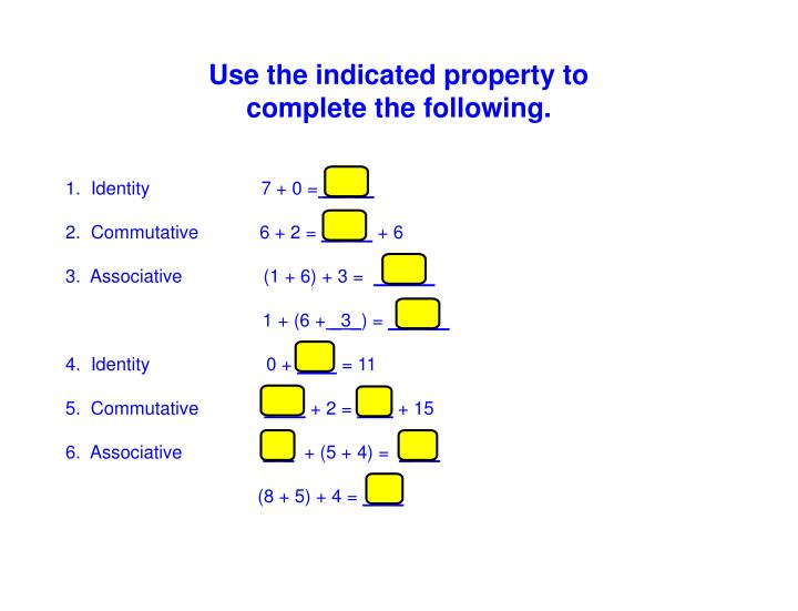 Use the indicated property to