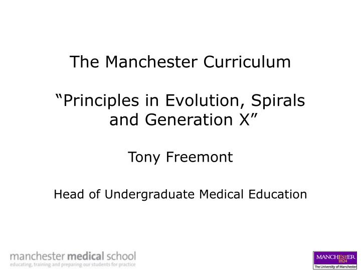 The Manchester Curriculum