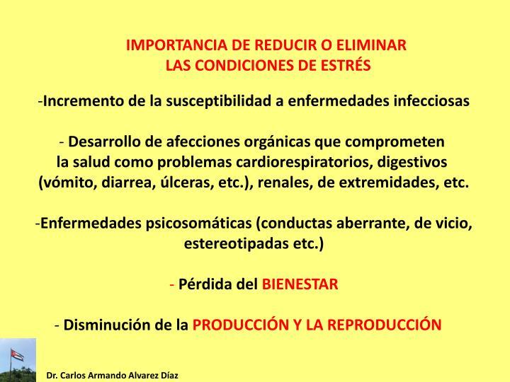 IMPORTANCIA DE REDUCIR O ELIMINAR
