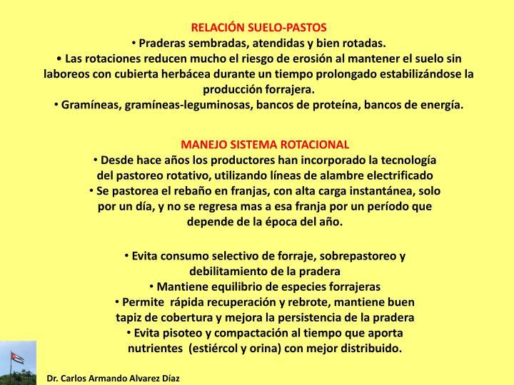 RELACIÓN SUELO-PASTOS