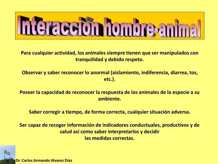 Interacción hombre-animal