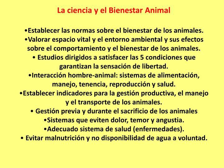 La ciencia y el Bienestar Animal