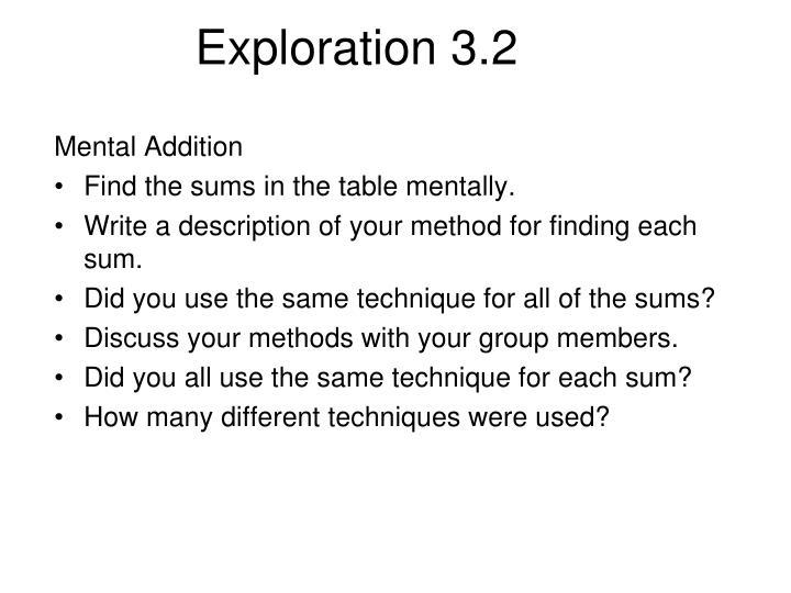 Exploration 3.2