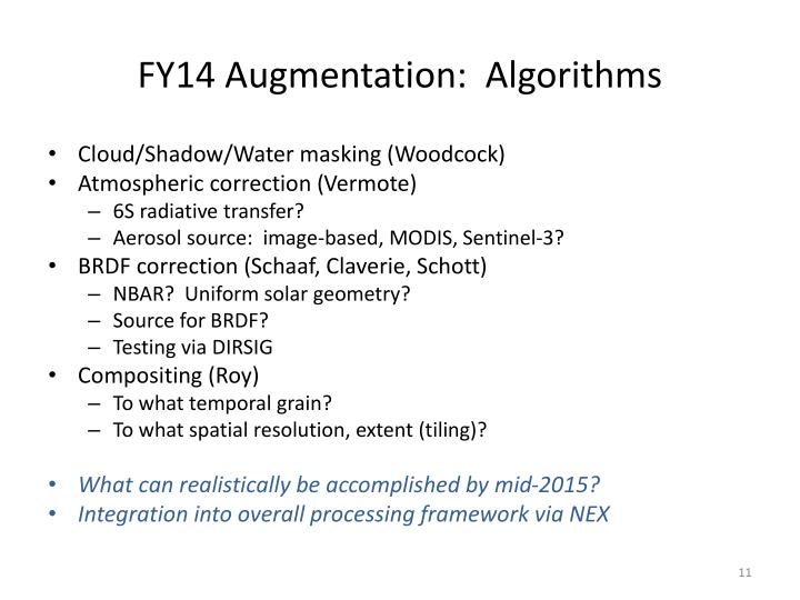 FY14 Augmentation: