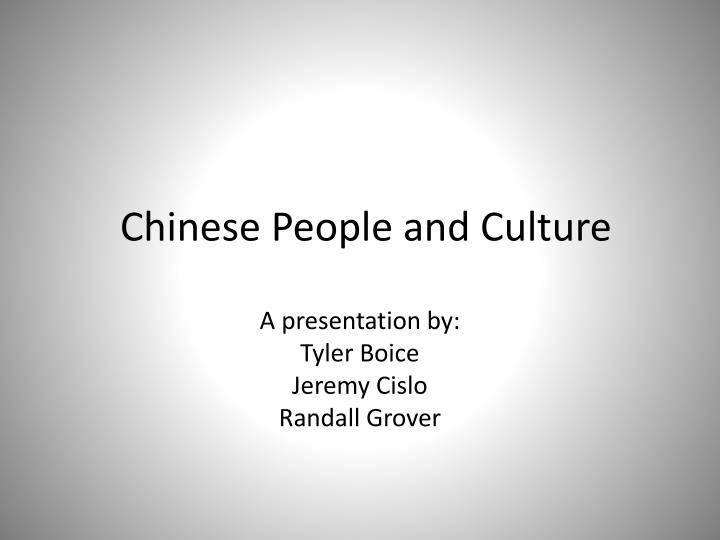 chinese people and culture