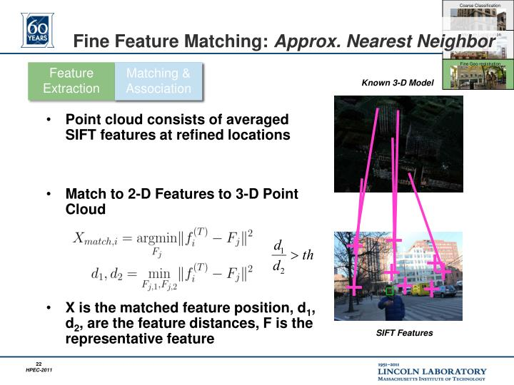 Fine Feature Matching: