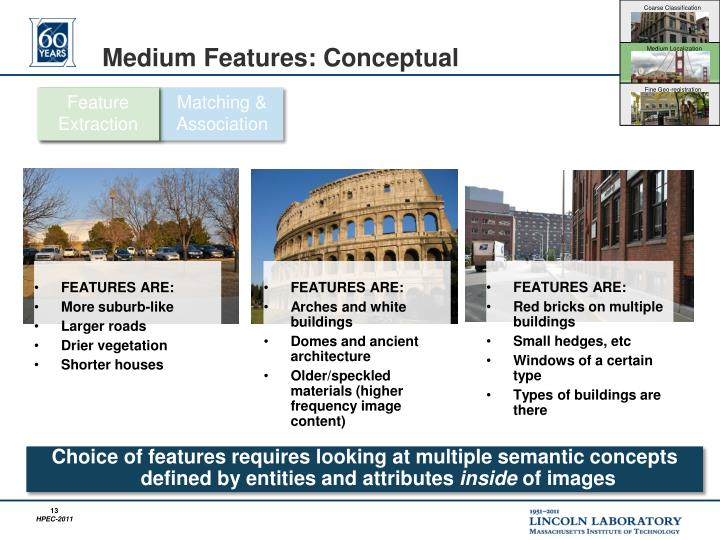 Medium Features: Conceptual