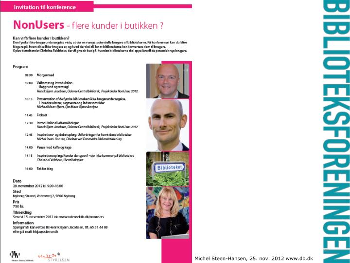 Michel Steen-Hansen, 25. nov. 2012 www.db.dk