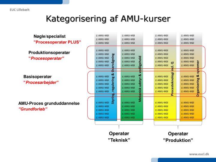 Kategorisering af AMU-kurser