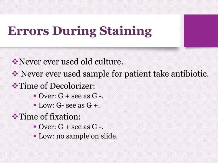 Errors During Staining