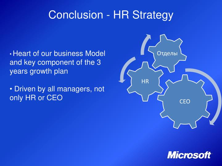 Conclusion - HR Strategy