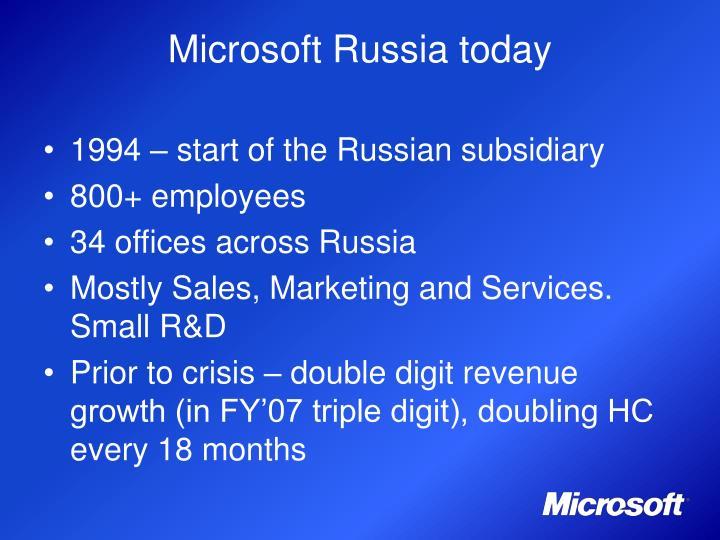 Microsoft Russia today