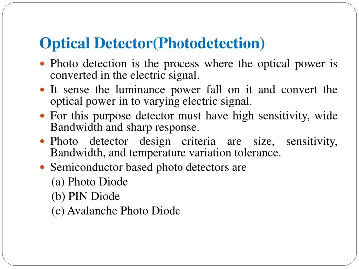 Optical Detector(